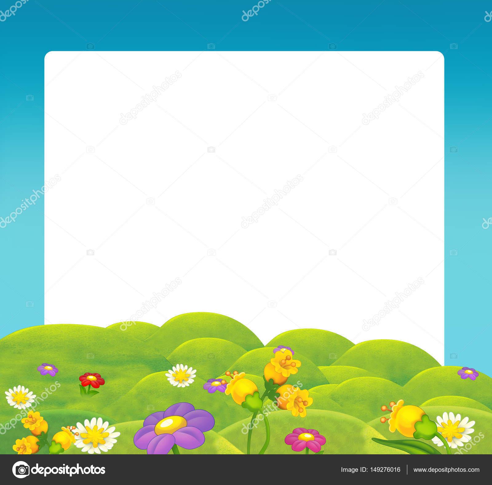 Marco de naturaleza dibujos animados — Foto de stock © agaes8080 ...