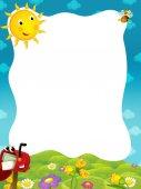 Fotografia telaio del fumetto con la cassetta postale felice