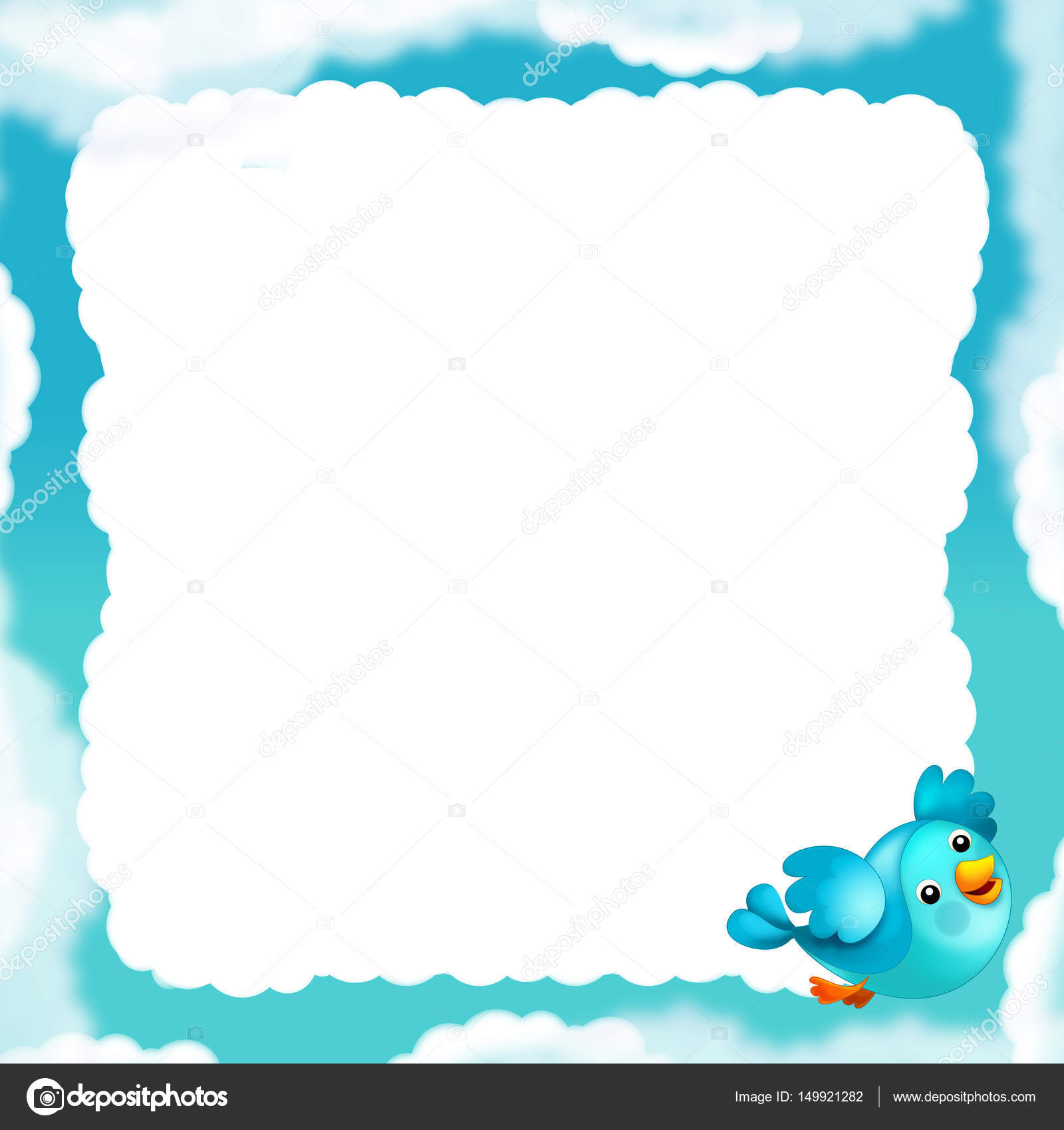 cartoon cloud frame — Stock Photo © agaes8080 #149921282