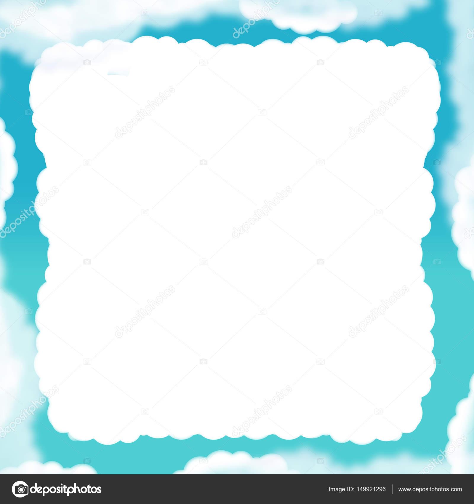 cartoon cloud frame — Stock Photo © agaes8080 #149921296