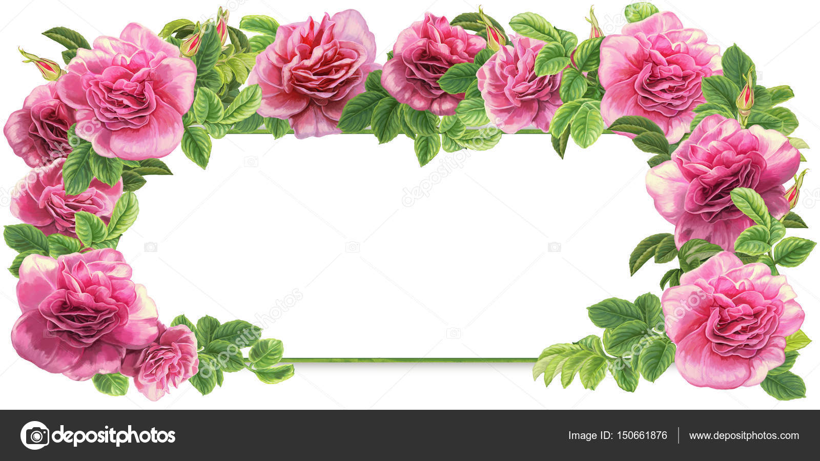 pink roses frame — Stock Photo © agaes8080 #150661876
