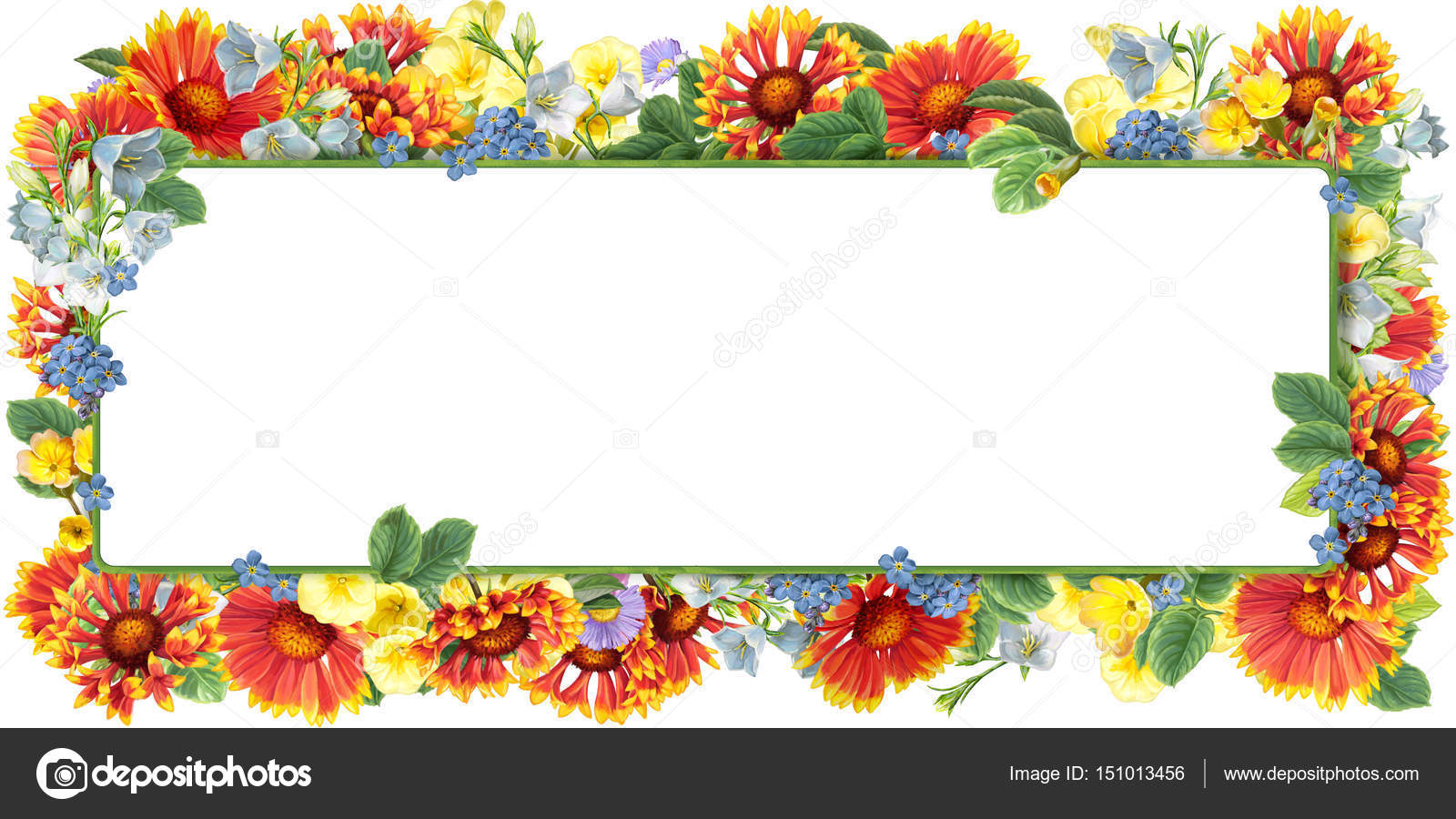 orange Blumen quadratischen Rahmen — Stockfoto © agaes8080 #151013456