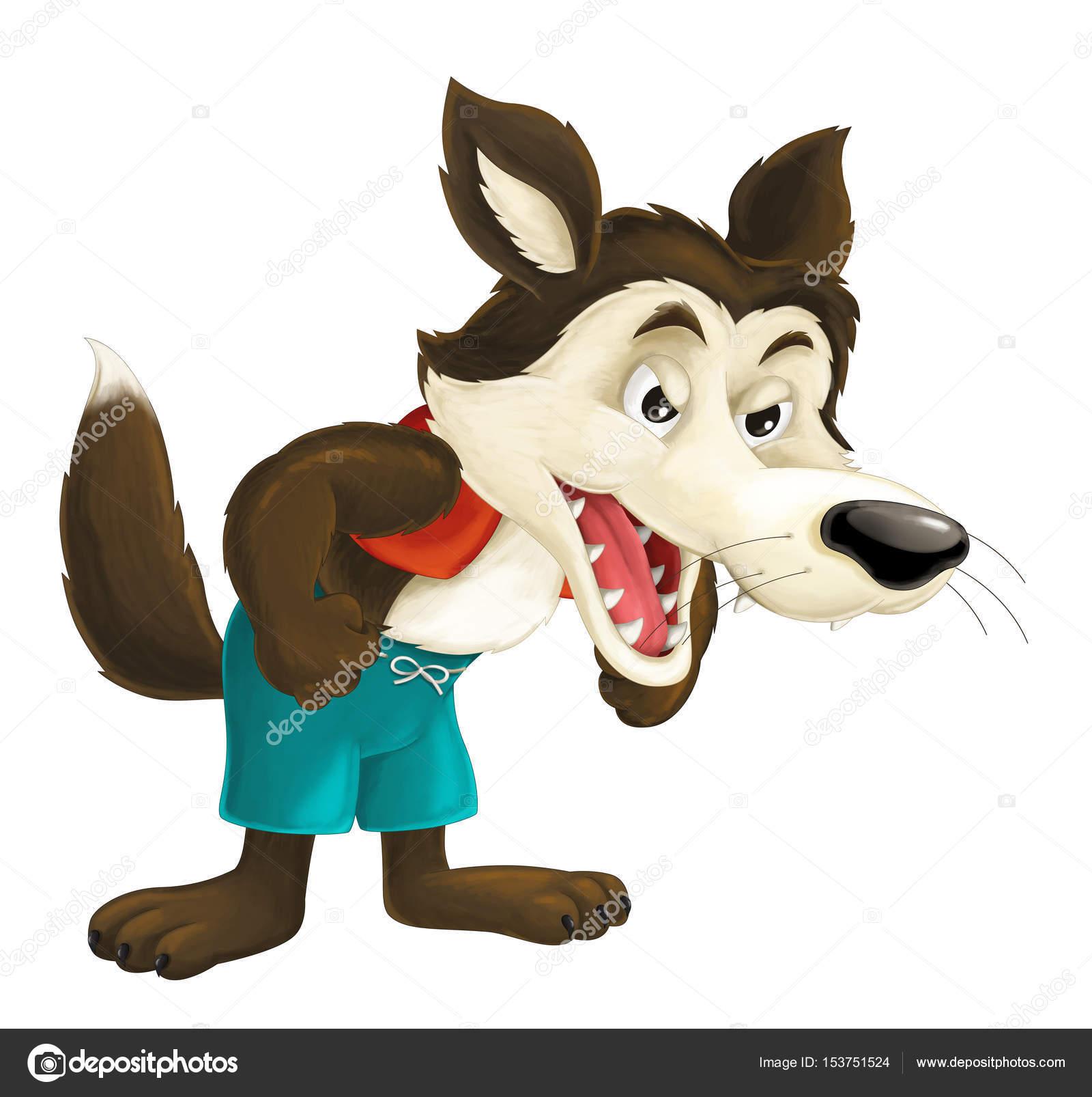 Lobo de dibujos animados lindo — foto stock agaes