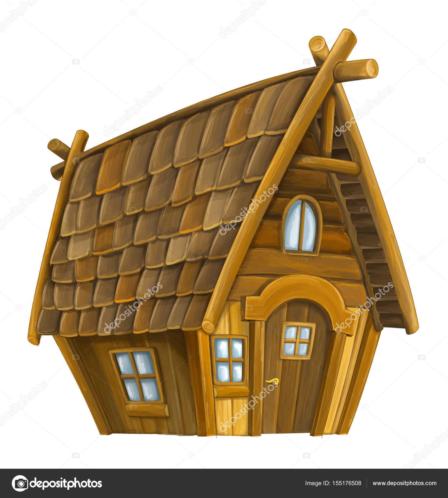 Dibujos Dibujo Casa De Madera Casa De Madera De Dibujos Animados