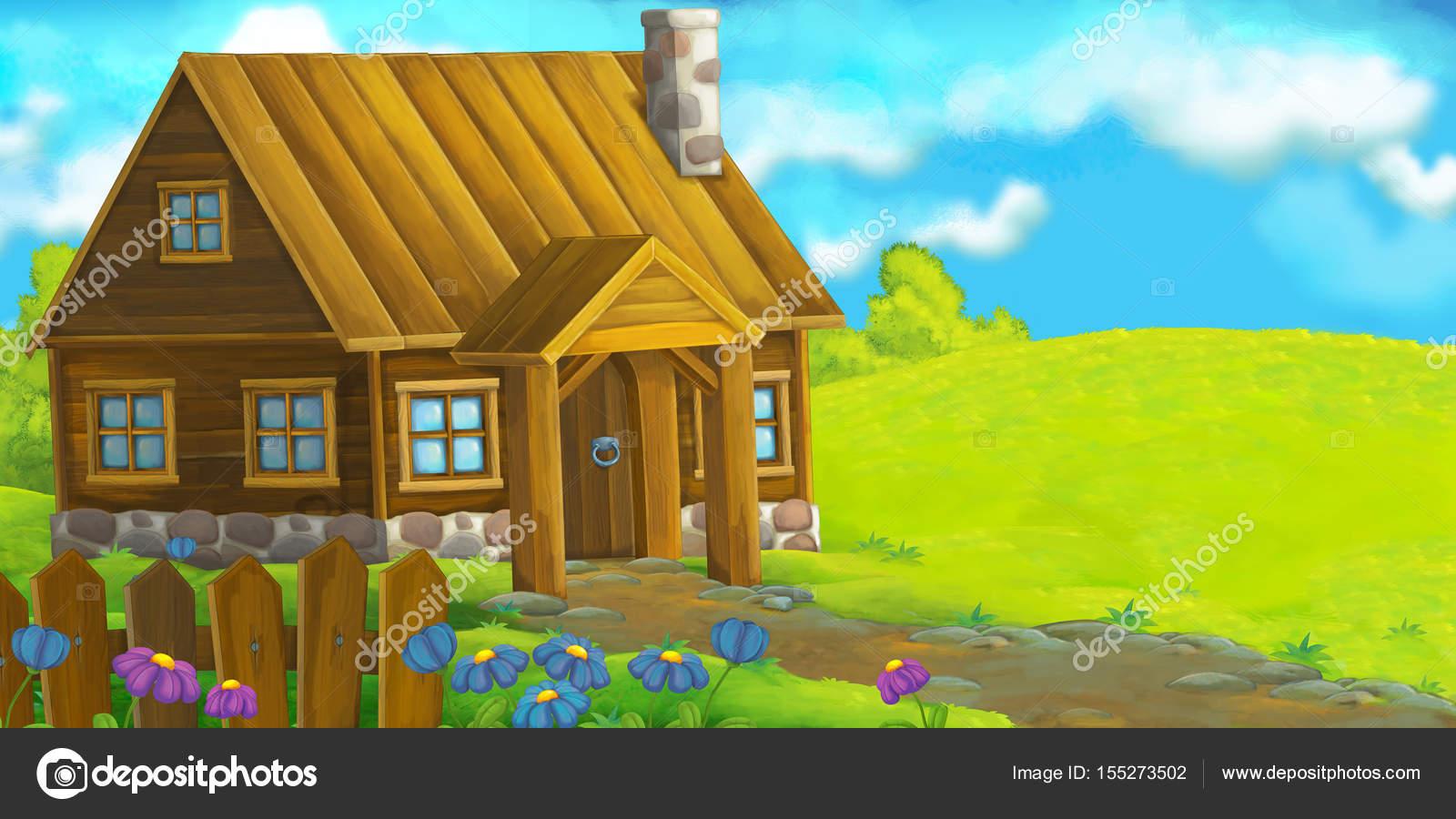 Casa De Madera De Dibujos Animados