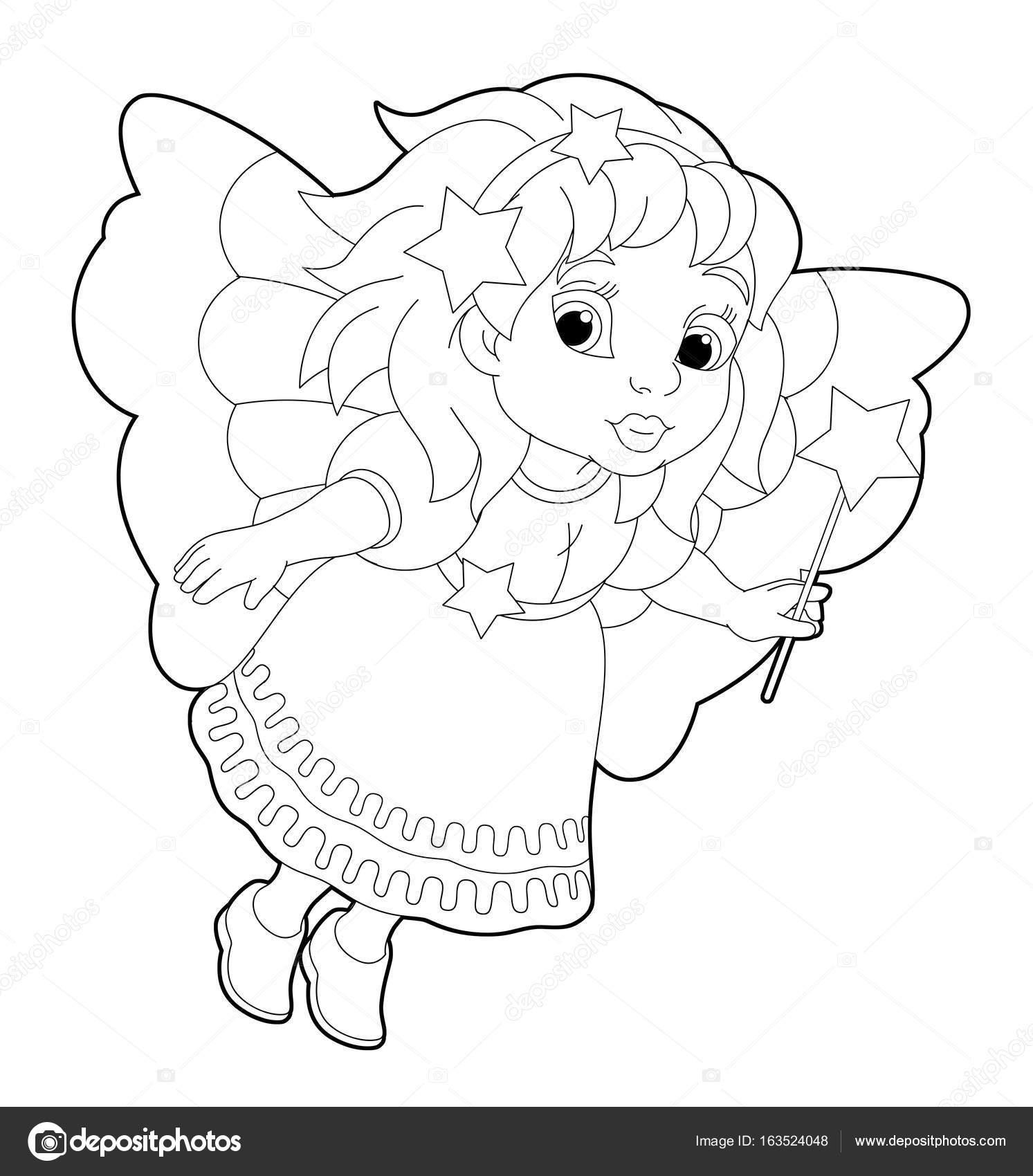 Fairy Vliegen En Bedrijf Toverstaf Stockfoto C Agaes8080 163524048