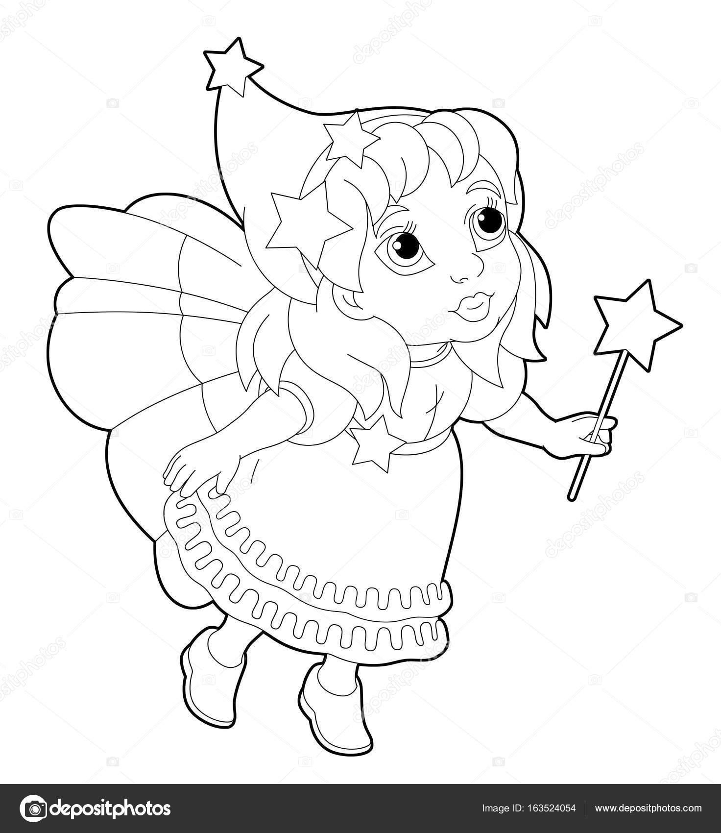 Fairy Vliegen En Bedrijf Toverstaf Stockfoto C Agaes8080 163524054