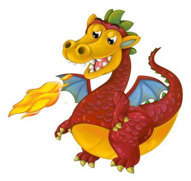 Cartoon mythical dragon