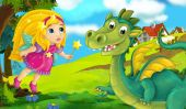 kreslený drak s barevné pohádky