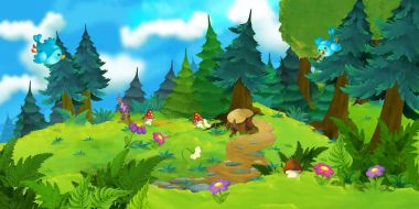 Cartoon scene for fairy tales