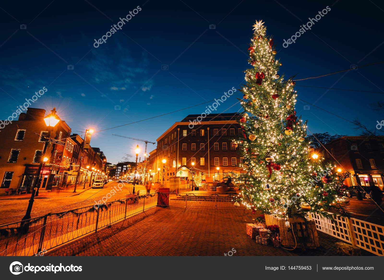 christmas tree in fells point baltimore maryland photo by appalachianview - Christmas In Baltimore