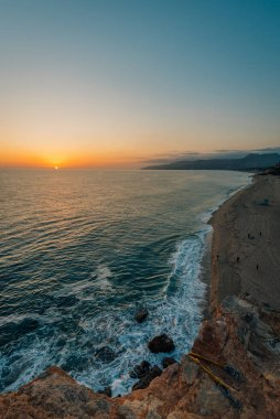 Sunset view from Point Dume State Beach, in Malibu, California