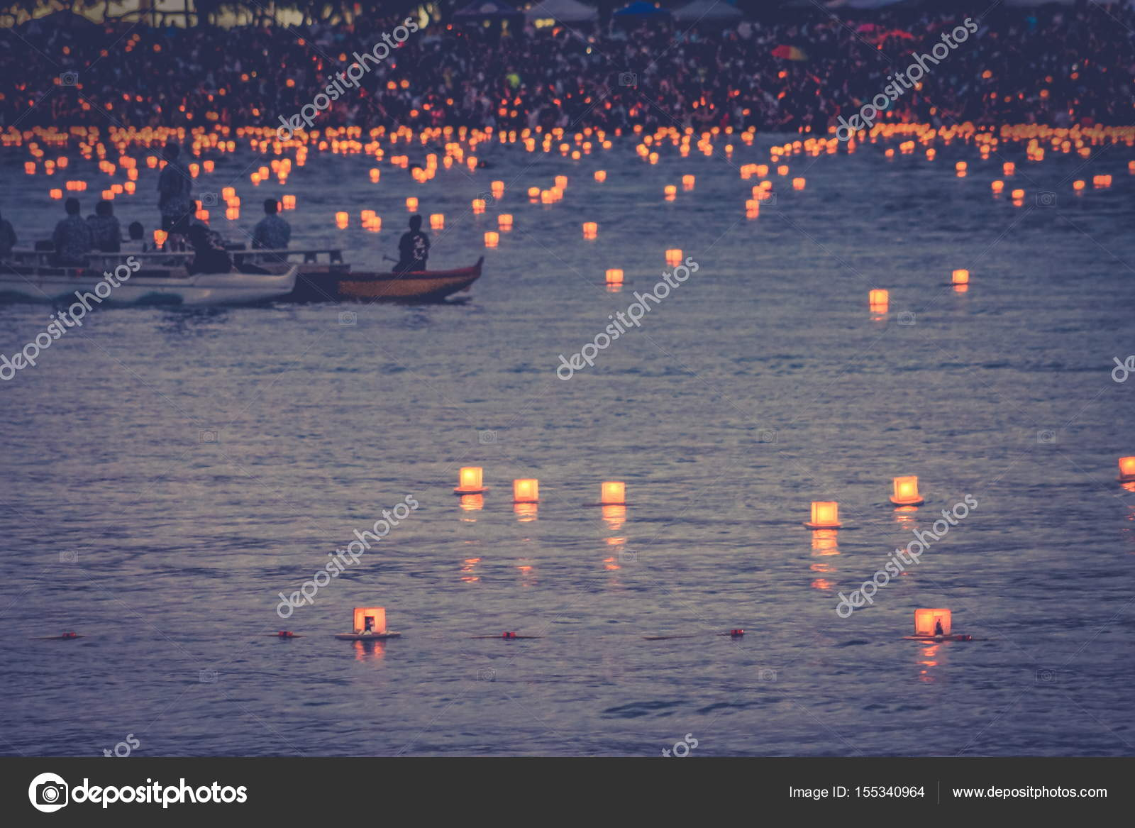 memorial day lantern floating festival held at ala moana beach to