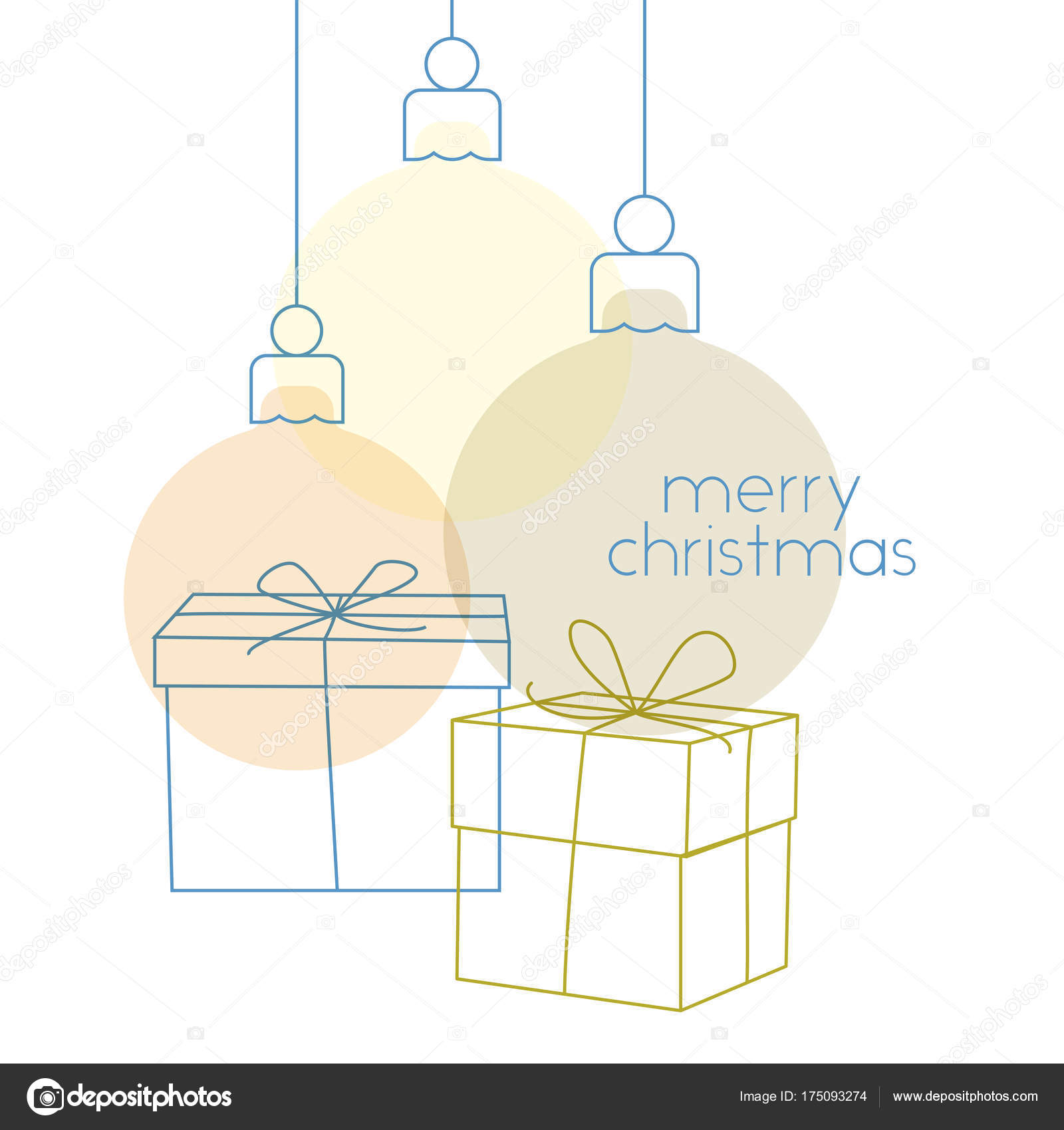 Simple Christmas Greeting Card Stock Vector Marzacz 175093274