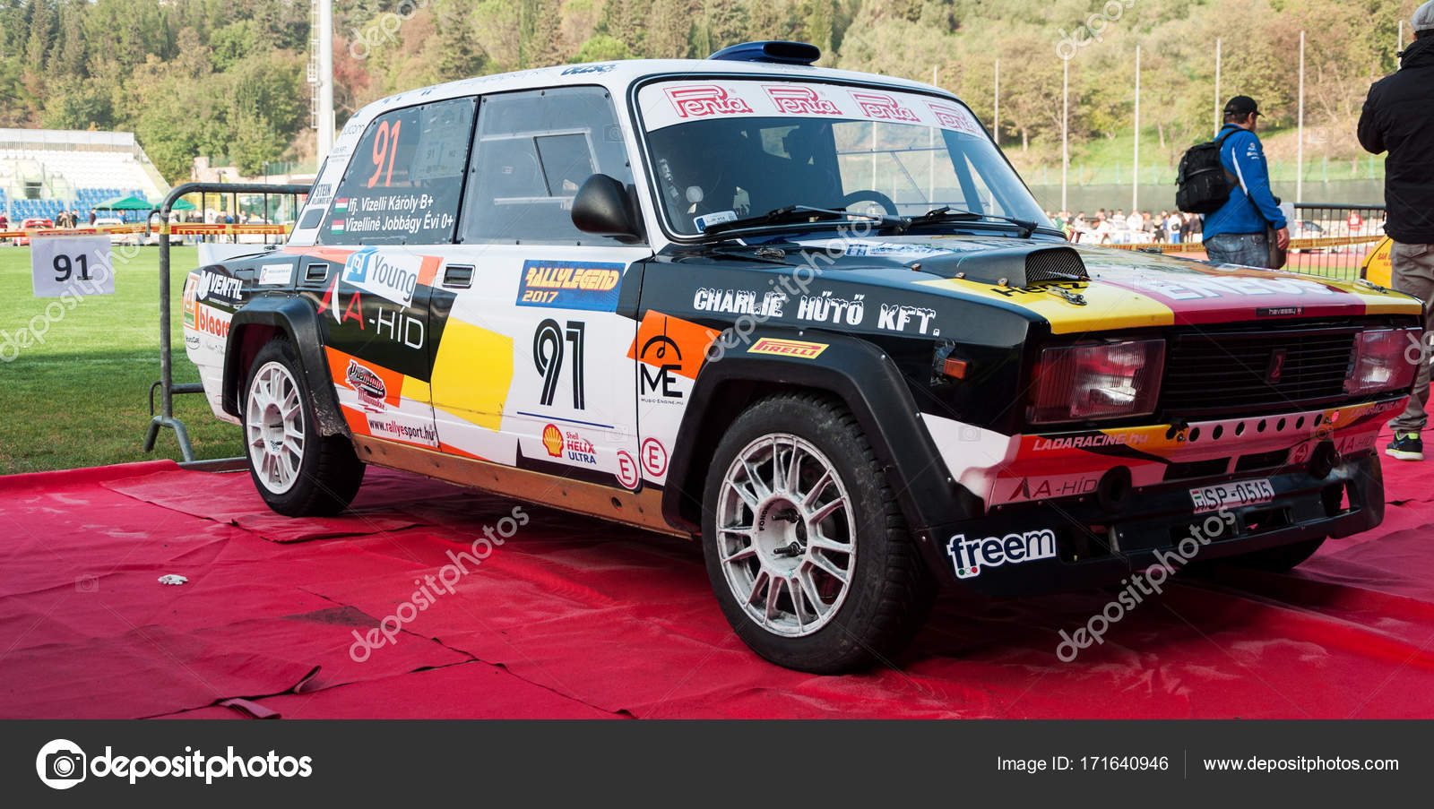LADA VFTS 1989 old racing car rally – Stock Editorial Photo ...