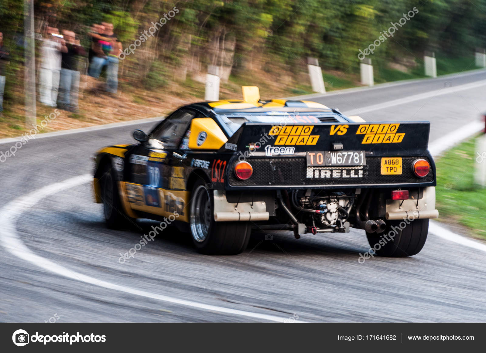 lancia rally 037 old racing car rally – stock editorial photo