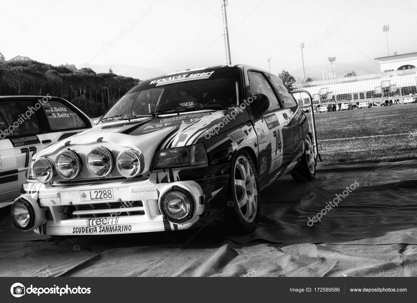 Renault Clio Williams 1998 Old Racing Car Rally Legend 2017 – Stock ...