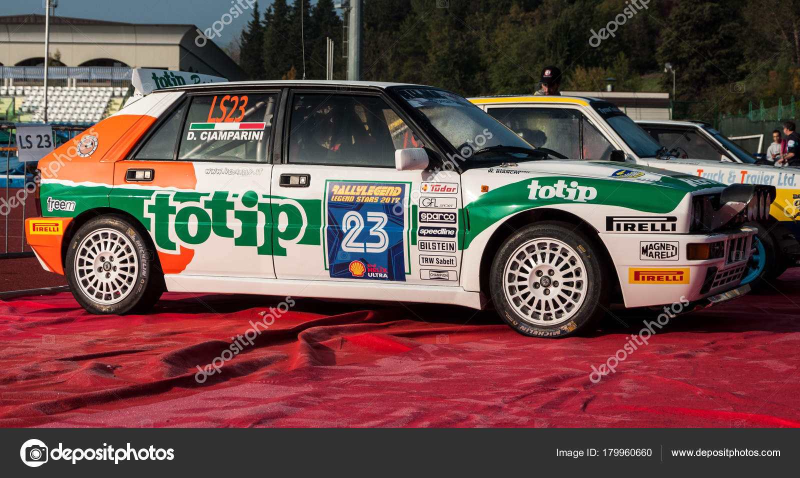 Lancia Delta 4Wd 1986 Old Racing Car Rally Legend 2017 – Stock ...