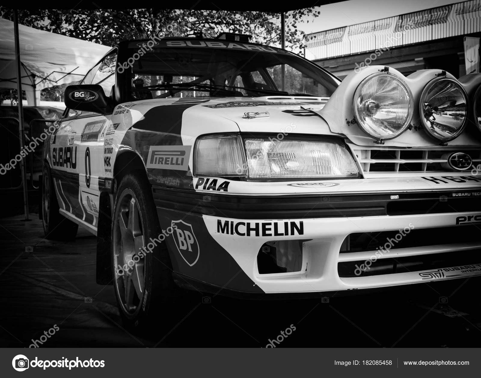 Subaru Legacy 1990 Old Racing Car Rally Legend 2017 Famous – Stock ...