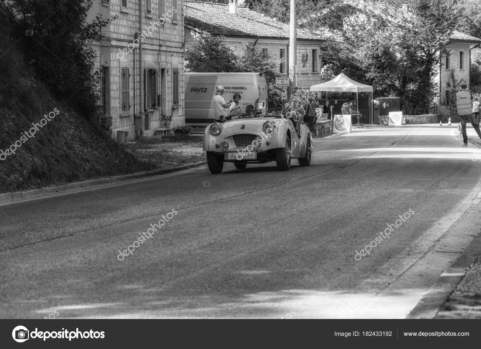 Gola Del Furlo Italy May Triumph Sports 1955 Old Racing – Stock ...