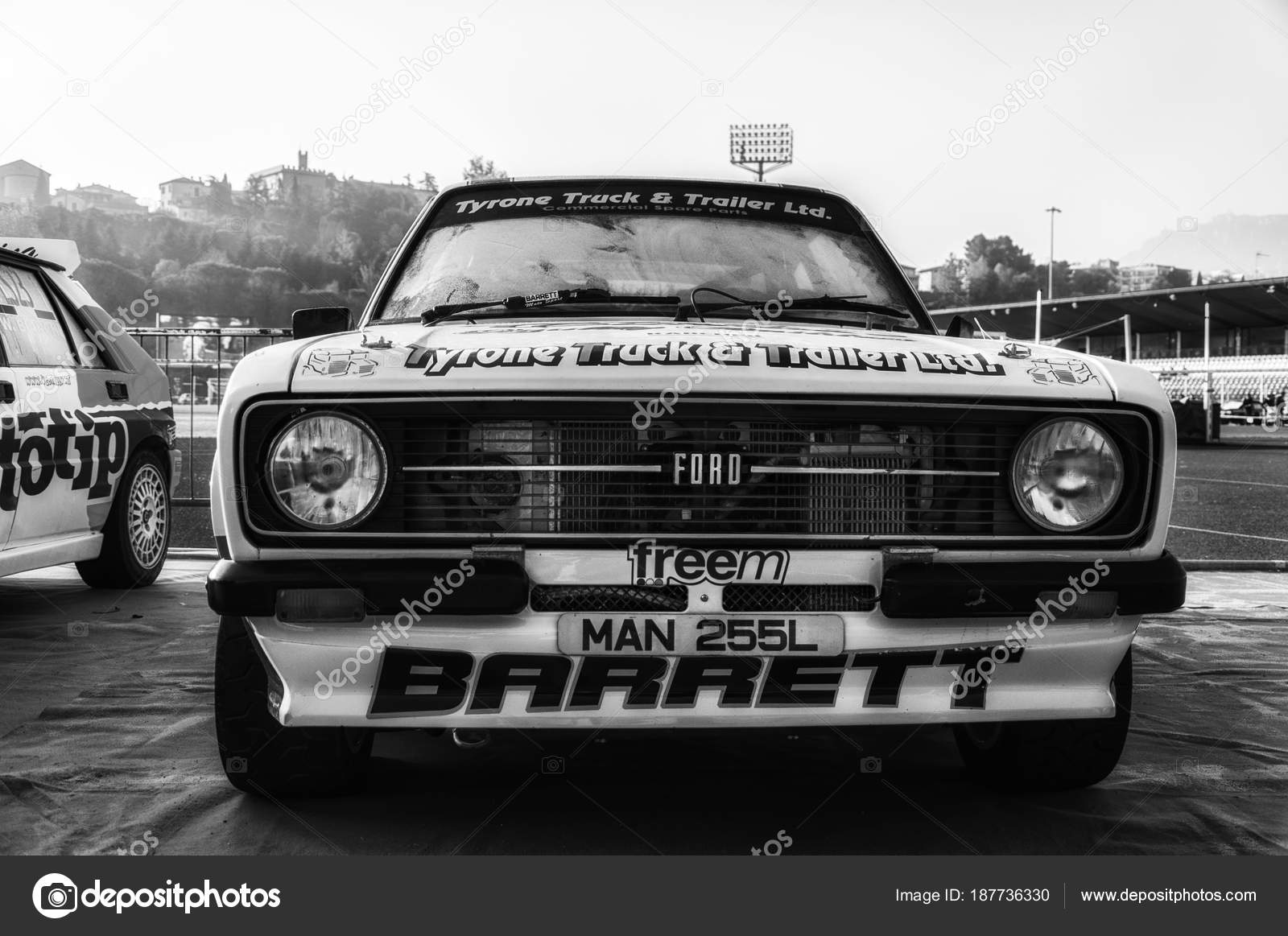Ford Escort 1977 Old Racing Car Rally Historical Race – Stock ...