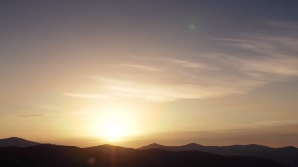 A time lapse of a sunrise over the Carpathian Mountains.
