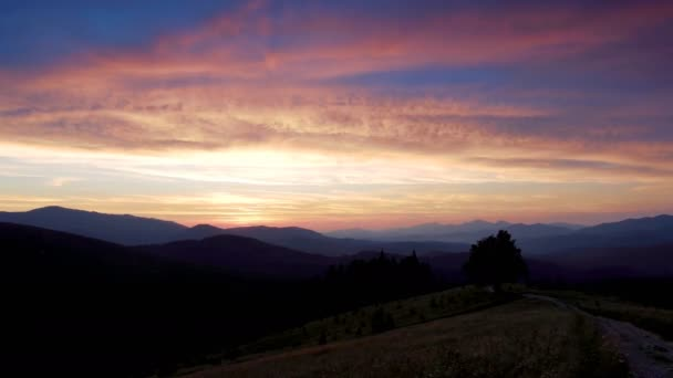 A time lapse of a sunset over the Carpathian Mountains.