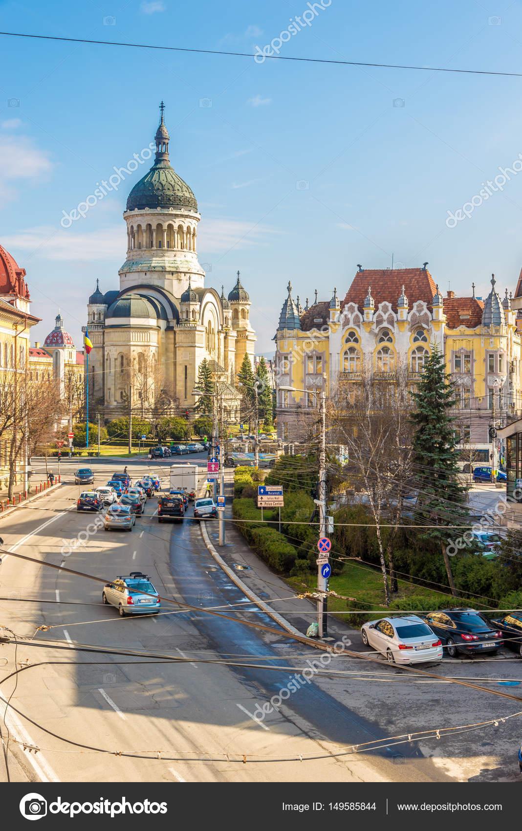 In den straßen von cluj - napoca, rumänien