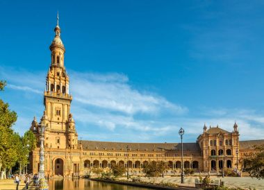 Place of Espana with North tower in Sevilla - Spain