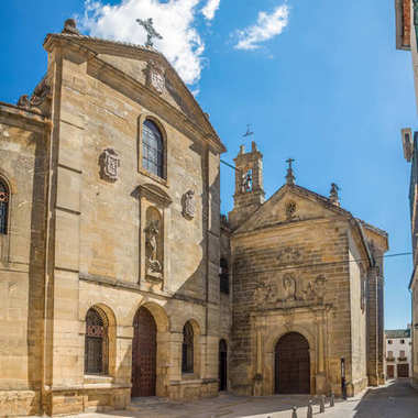 Church of Padres Carmelitas Descalzos in the streets of Ubeda - Spain