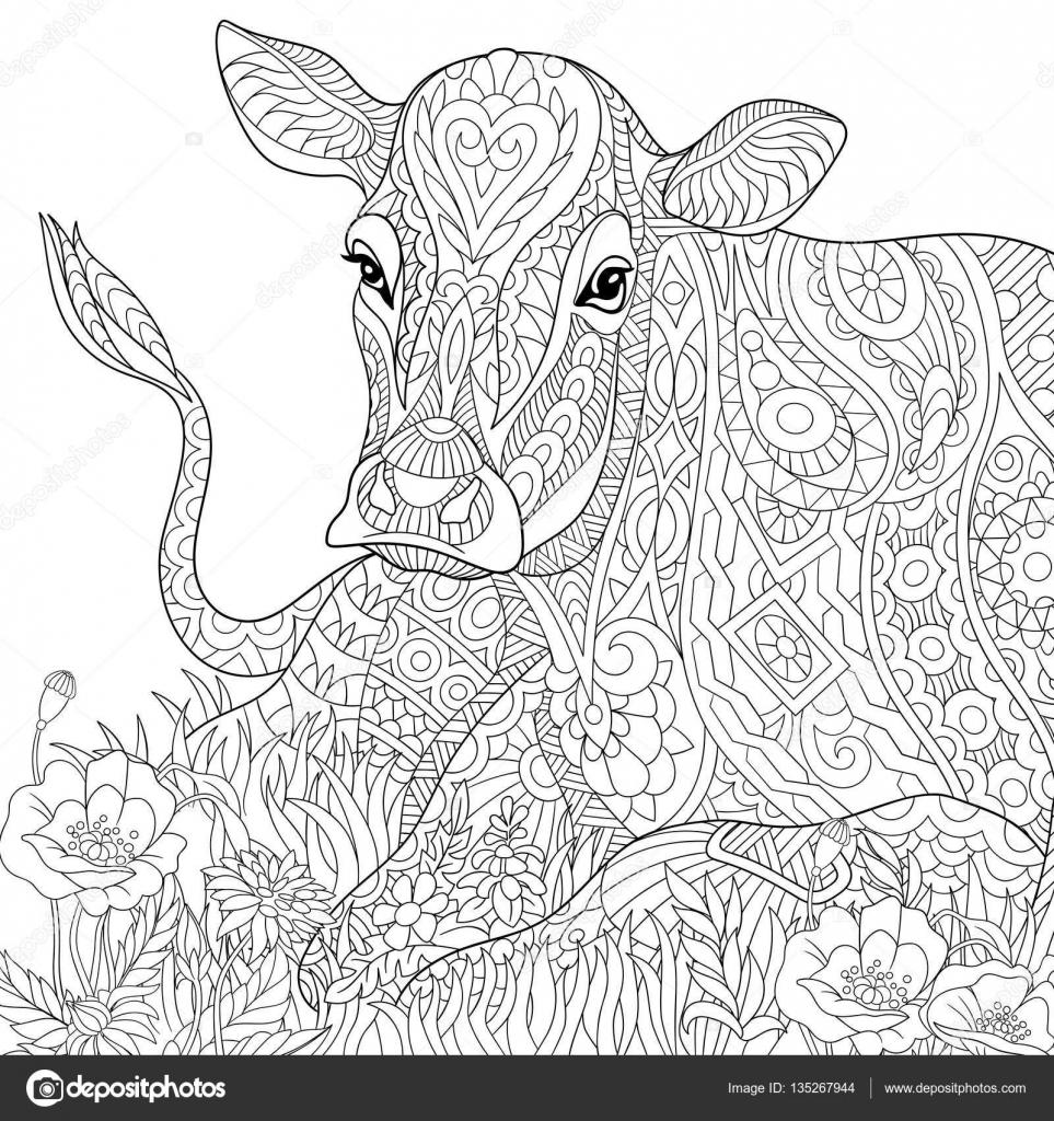 Luxe Image A Colorier De Vache