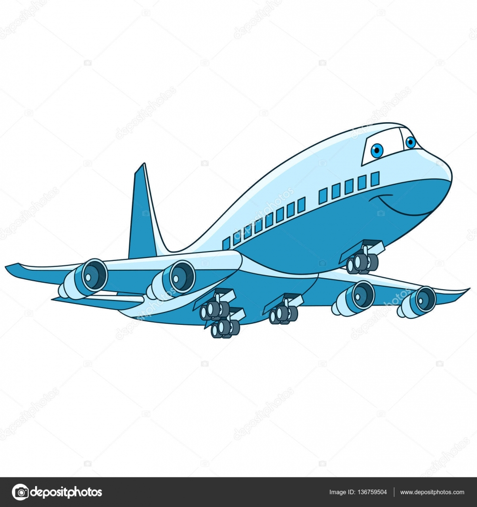 Cartoon vliegtuig vliegtuigen — stockvector sybirko