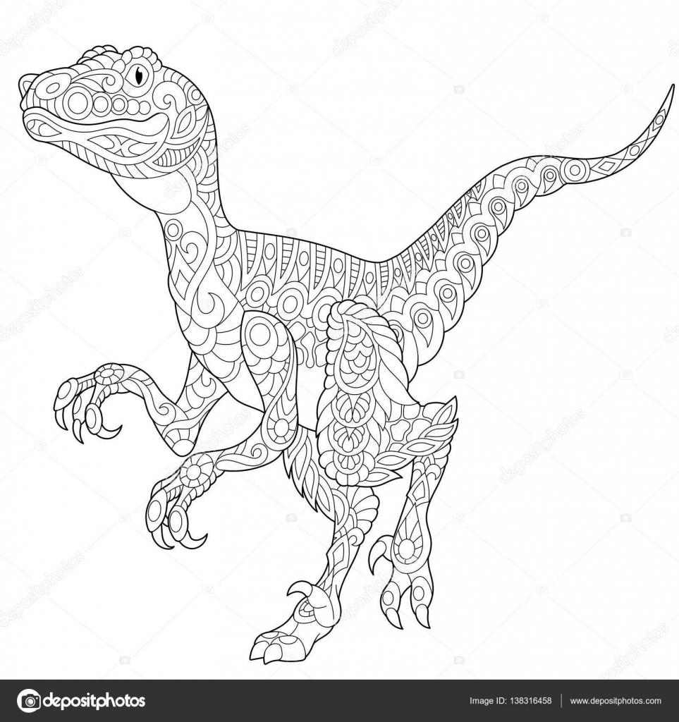 Coloriage Anti Stress Dinosaure