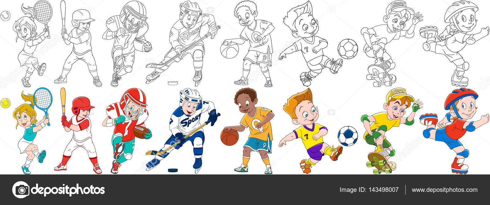 Imágenes: deportivas animados | dibujos animados los niños deportivo ...