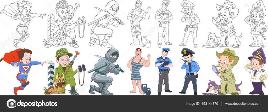 Imágenes: militar para dibujar | dibujos animados profesiones ...