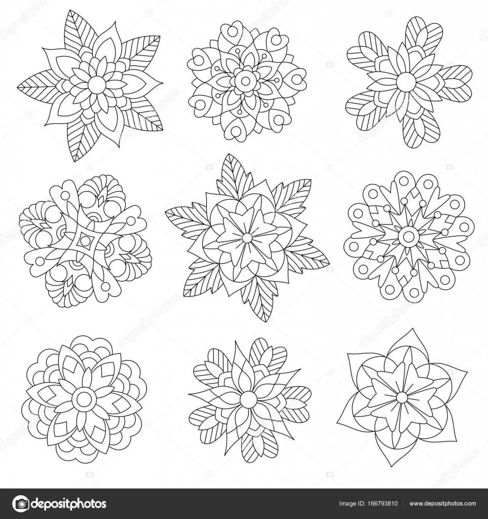 Zentangle estilizado copos de nieve de Navidad — Archivo Imágenes ...