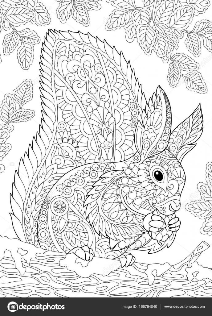 stilisiertes eichhörnchen  vektorgrafik lizenzfreie