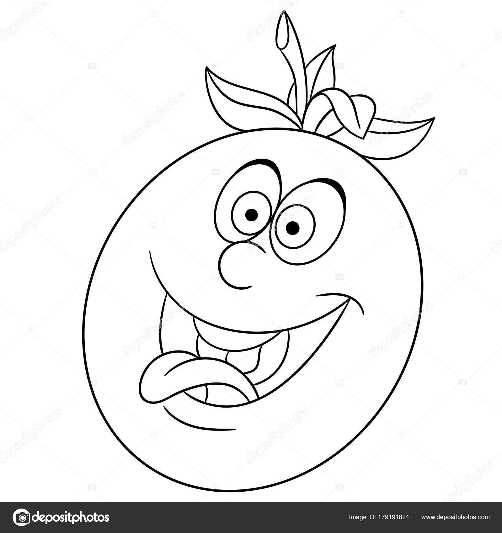 Libro Colorear Página Para Colorear Dibujos Animados Carácter Tomate ...
