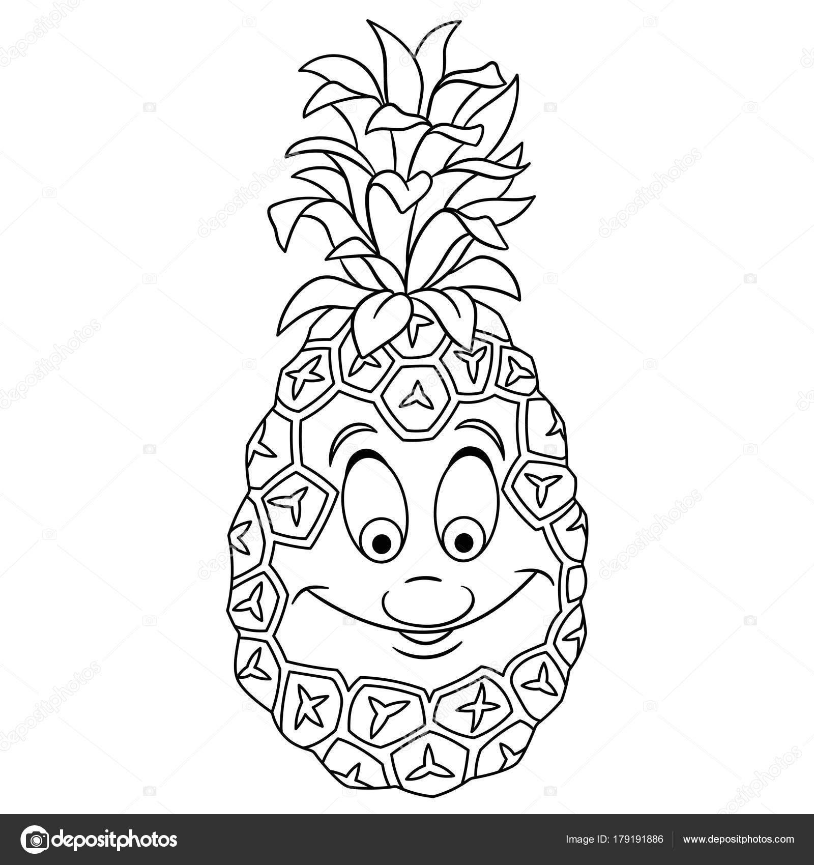 kleurplaat ananas peuter kleurplatenl