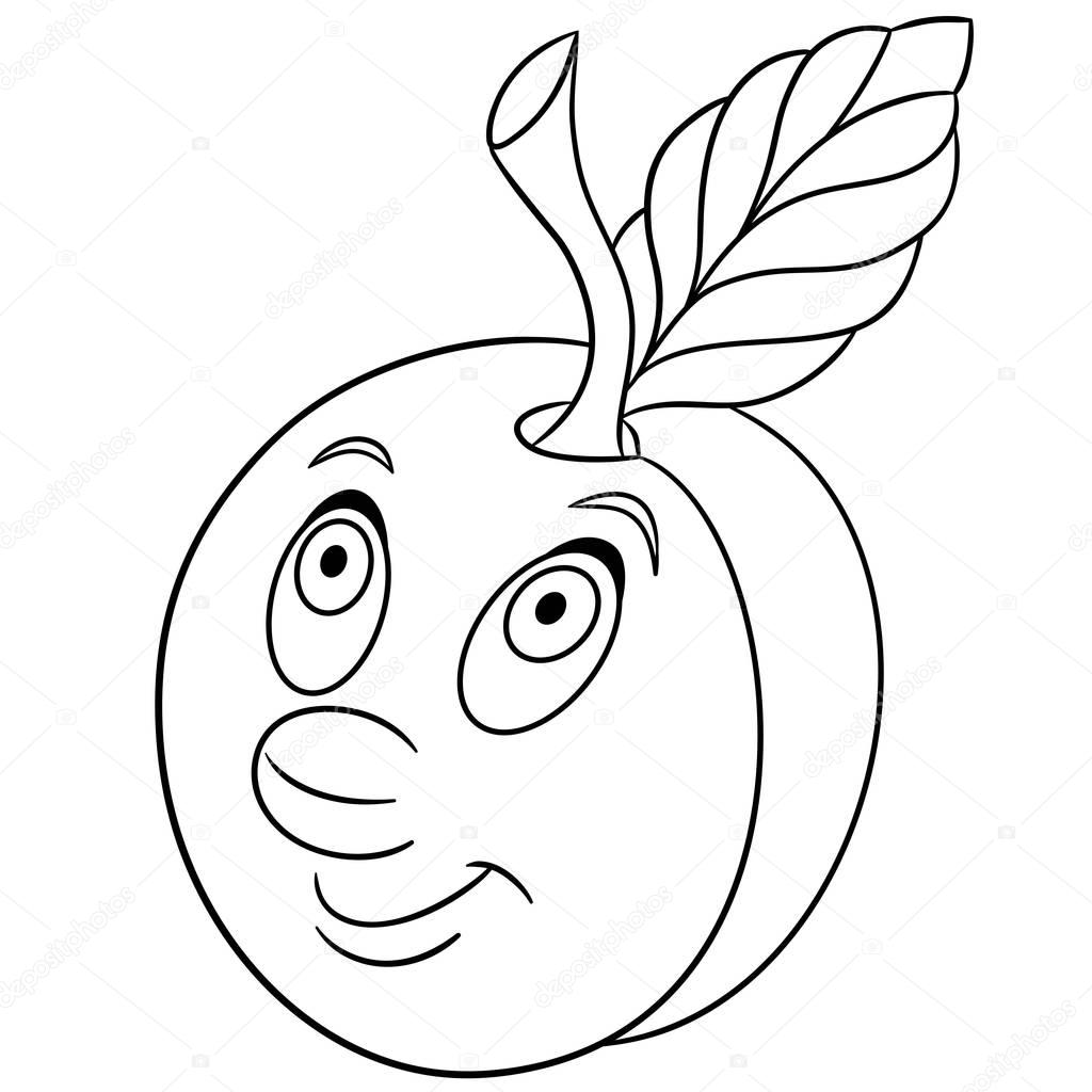coloring pages prunes - photo#48