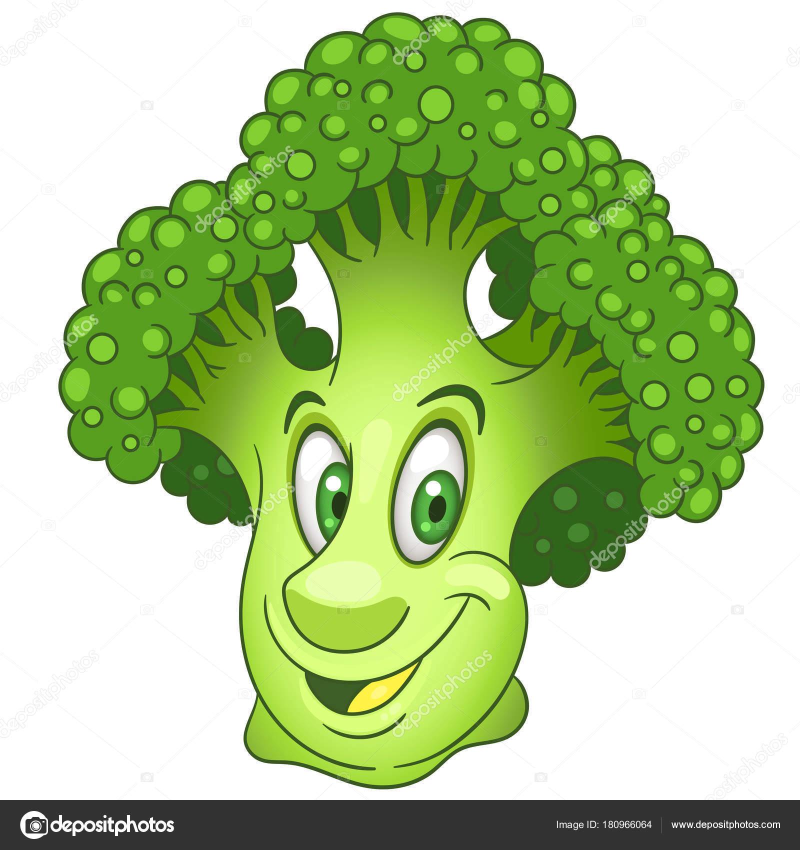 Personaje de dibujos animados brócoli — Archivo Imágenes Vectoriales ...
