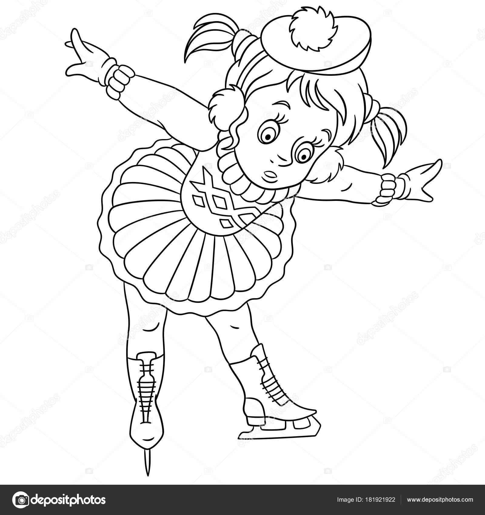 Malvorlagen Cartoon Mädchen Lernen Wie Man Schlittschuh Laufen ...