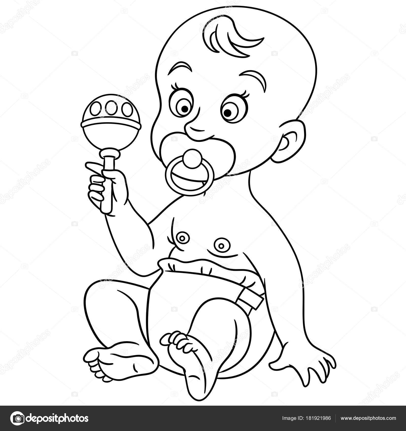 Dibujos Para Colorear De Bebes Recien Nacidos Página Para