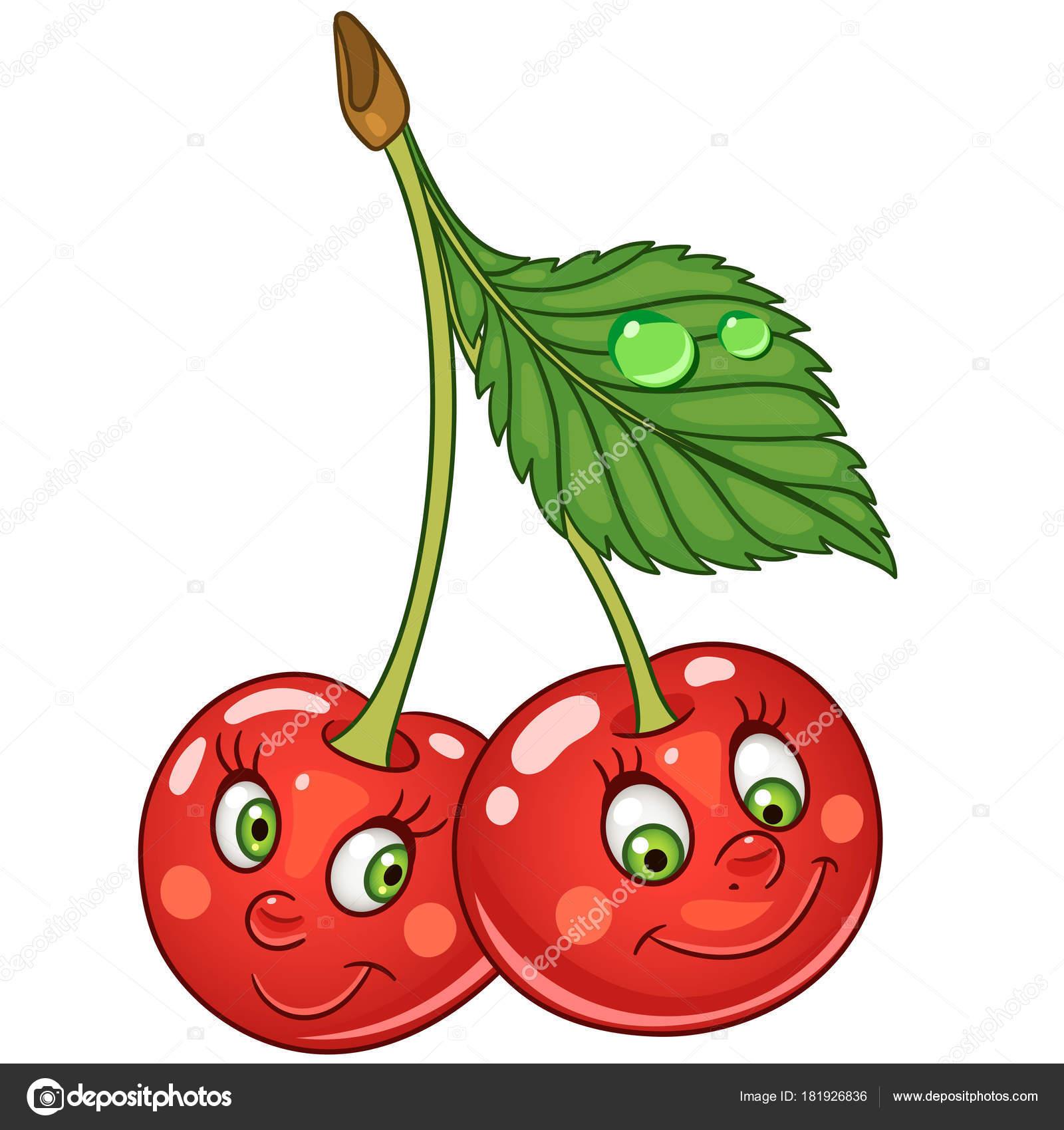icono de dibujos animados cereza vector de stock cherry clipart with face cherry clipart borders