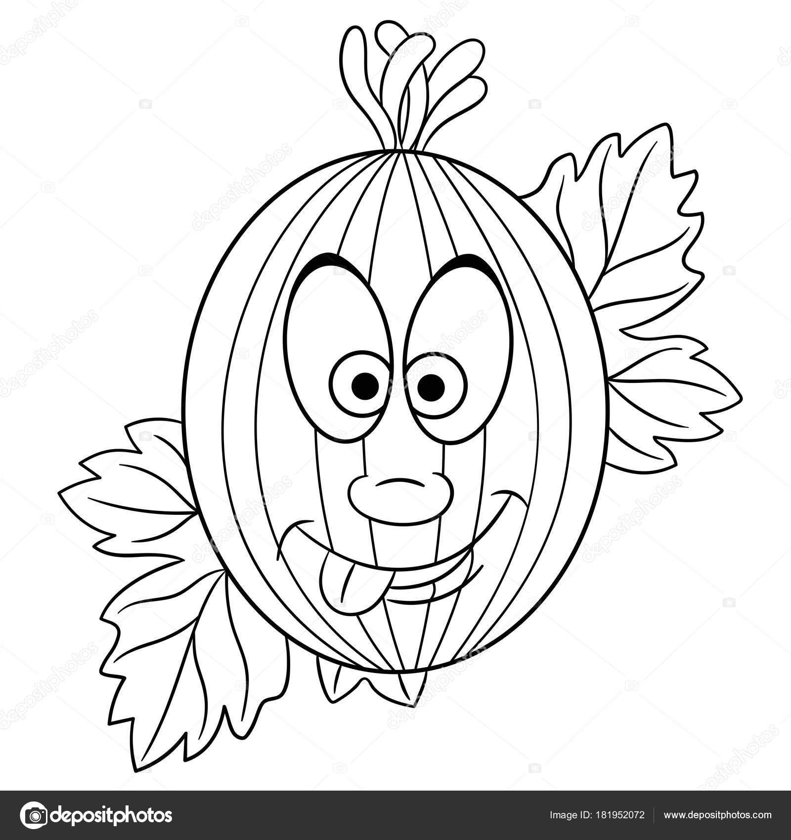 Boyama Sayfası çizgi Film Bektaşi üzümü Mutlu Meyve Karakter Eco