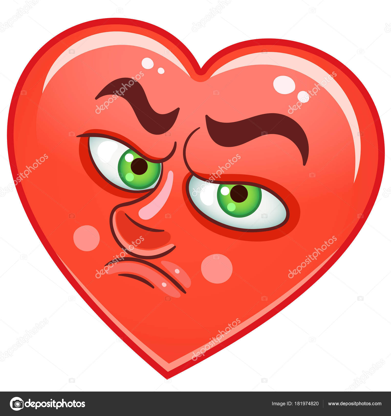 Heart Emoticons Smiley Emoji Stock Vector Sybirko 181974820