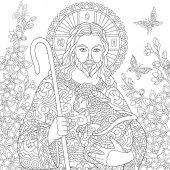 Fotografie Zentangle Jesus Christ