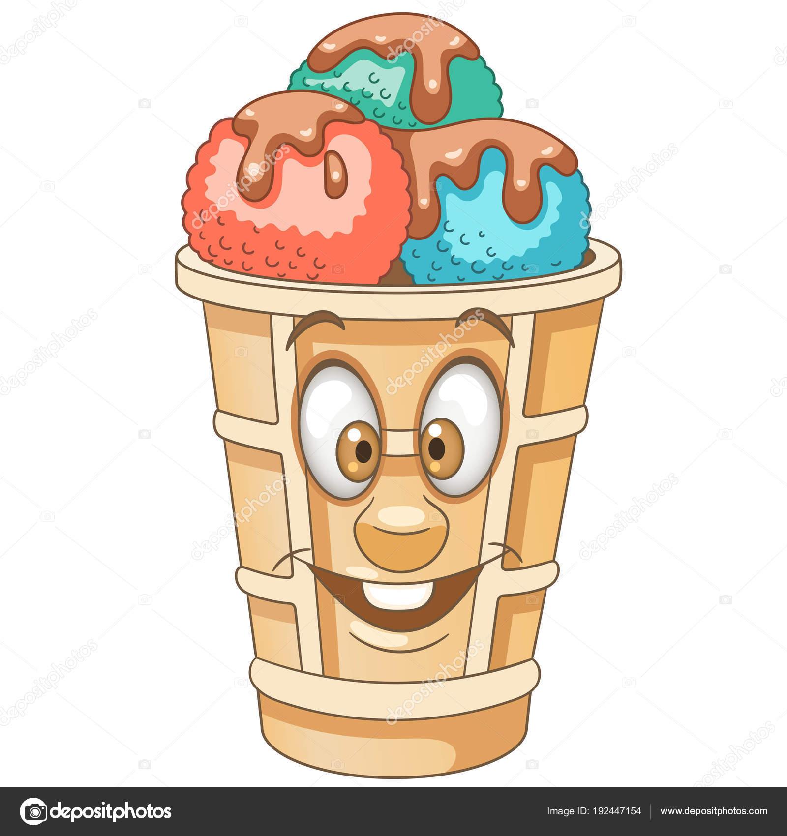 Cartoon süße Eisportionierer — Stockvektor © Sybirko #192447154