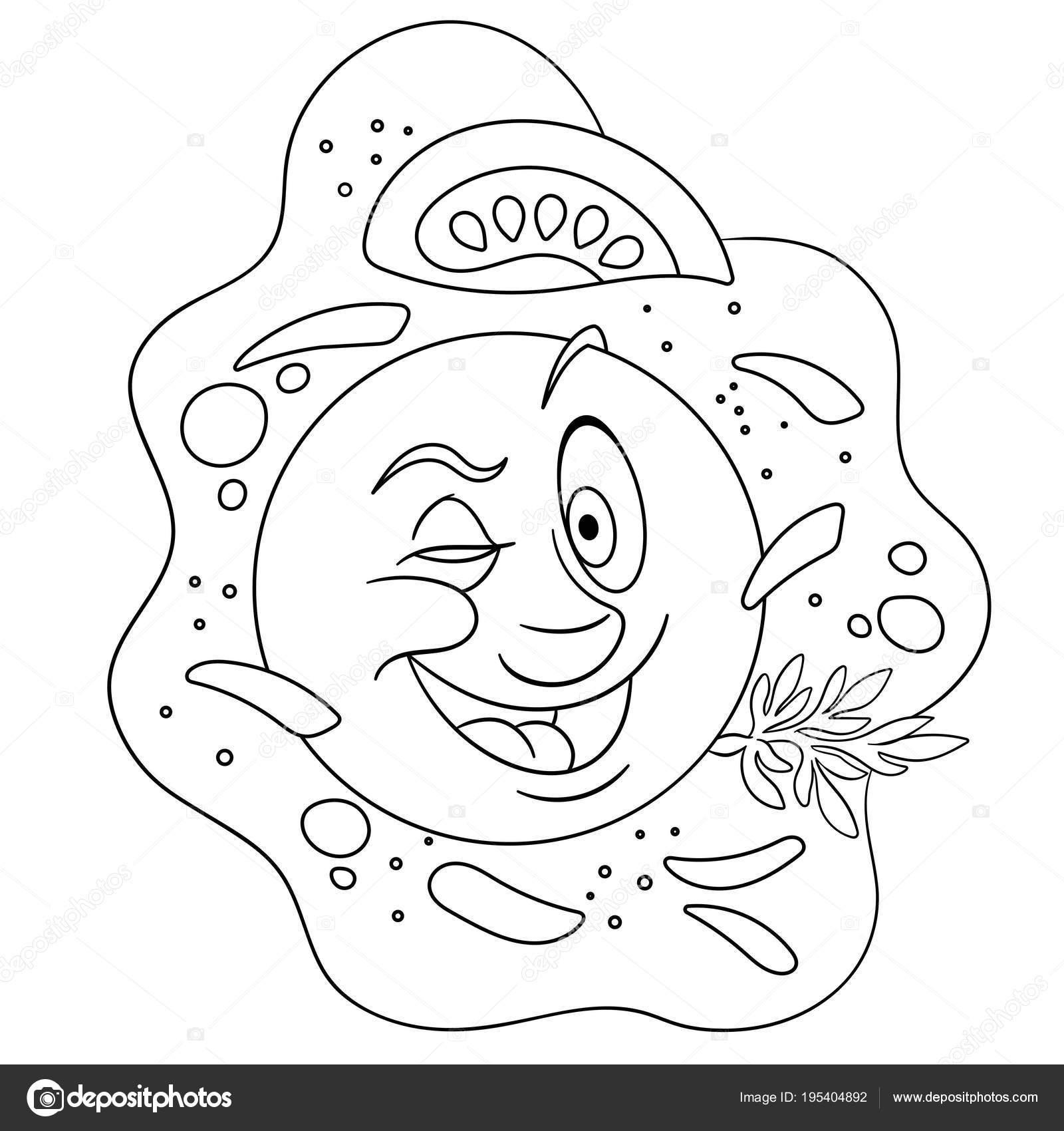 Dessin Animé Drôle Oeuf Au Plat Image Vectorielle Sybirko 195404892