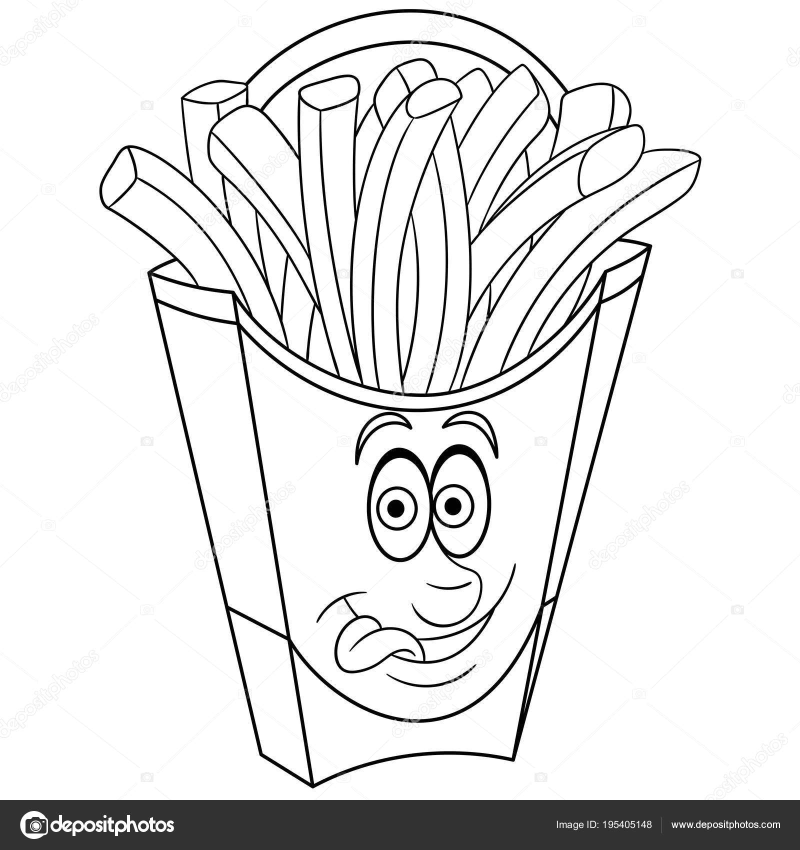 - Images: French Fries Coloring Page Coloring Book Coloring Page